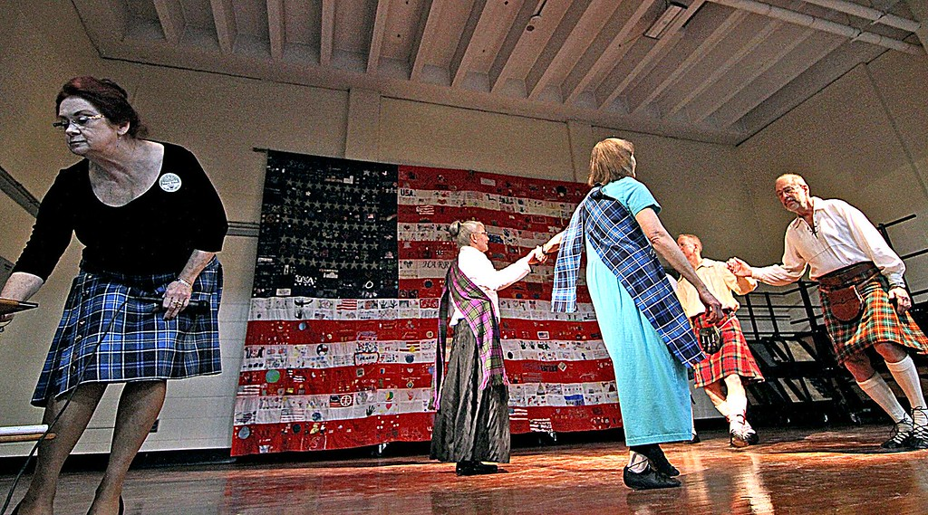 . The Royal Scottish Country Dancers on stage at the 6th Annual Harrington School Heritage Festival. SUN/ David H. Brow