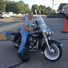 Ray Lessard of Lowell on his 1976 FLH Harley-Davison