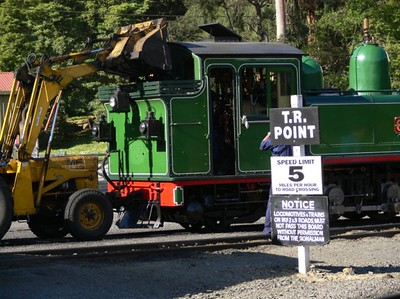 Puffing Billy - loading coal into the bunker