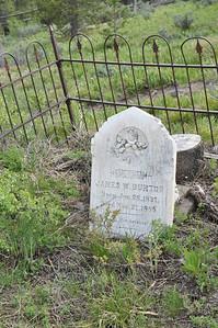James Burton's grave, Grave at Bonanza City Cemetary, Bonanza City, Idaho. 6.18.11