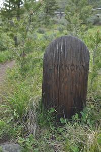 """Unknown"", Grave at Bonanza City Cemetary, Bonanza City, Idaho. 6.18.11"