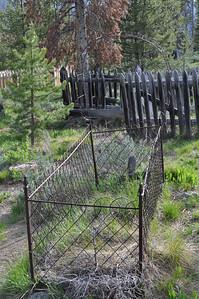 Grave at Bonanza City Cemetary, Bonanza City, Idaho. 6.18.11