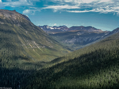 Flying up the Athabasca Pass