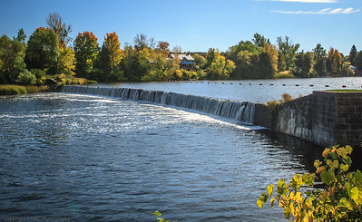 Overflow Dam, Clowes Quarry on the Rideau Canal