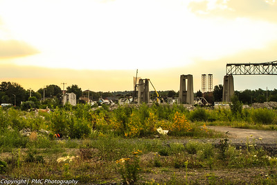 View from the former Domtar Lands looking east.