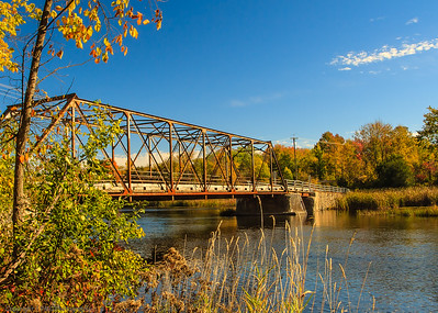 A somewhat smaller steel bridge.
