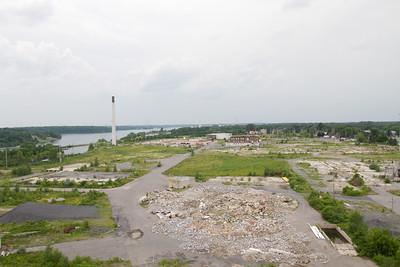 The remains of the Domtar Mill Complex, Cornwall, Ontario