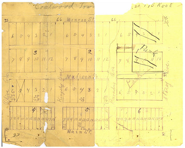 Coalwood Town Site Map Drawn on the back of bank statement belonging to John W. Janssen   In 1919, Custer County was divided, resulting in the creation of Powder River County. The area where the Janssens homesteaded fell within the boundaries of the newly created Powder River County.