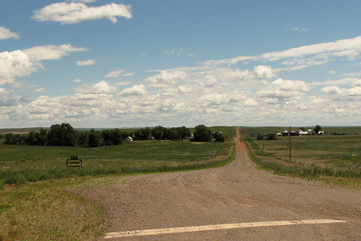(Looking east from Montana Highway 59, from present location of Coalwood, Montana)  The Janssen Ranch July 5, 2010