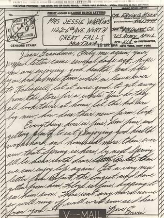 1944 April 18 V Mail