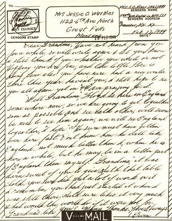 1944 Feb 18 V Mail