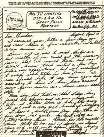 1944 April 22 V Mail