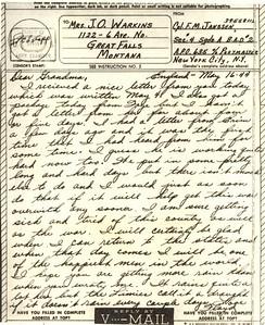 1944 May 16 V Mail