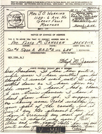 1944 March 5 V Mail