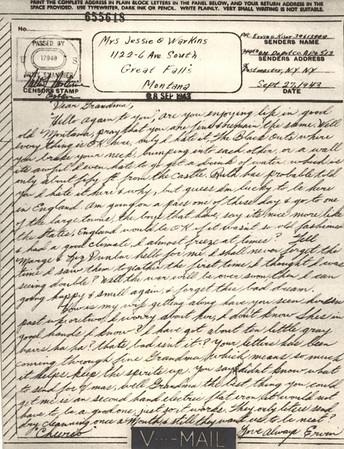 1943 Sept 27 V Mail