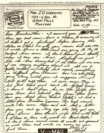 1944 Feb 11 V Mail