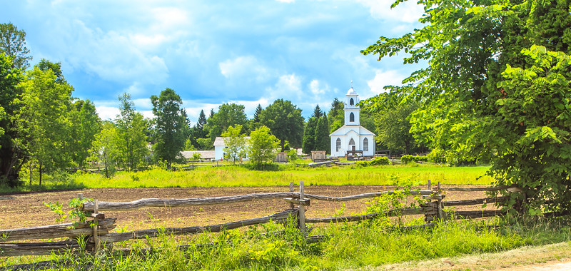 The church dominates the landscape of the village as it was designed to do.