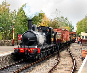 The J15 runs through Bitton with a through goods working. 21/10/12.