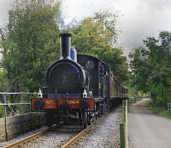 Ancient GER Worsdell Y14 (LNER Class J15) heads west towards Bitton on 21 October, 2012.