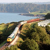 40145 at Saltern Cove with Vintage Trains 'The Port of Dartmouth Royal Regatta' tour on 22 August, 2008.  The vantage point, known as Sugar Loaf Hill, is reached via the coastal footpath from Goodrington.