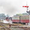 'Linda' and 'Merddin Emrys' leaving Porthmadog