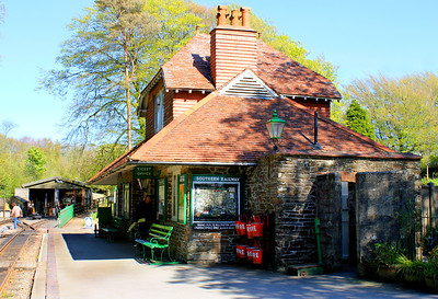 The beautifully restored station building at Woody Bay.  13/05/12.