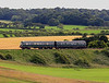 Another shot of the North Norfolk Railway's Metro Cammell DMU, this time passing Sherringham golf course en-route to Holt.  Again, this scene could easily have been captured in the late 1950s, perhaps on the Saxmundham to Aldeburgh branch further down the coast in Suffolk.  15/07/12.