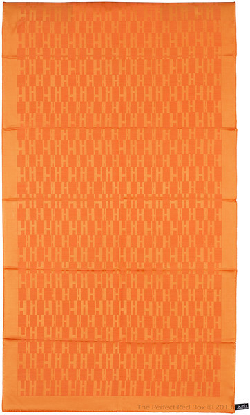 Grand H - Scarf Faconne - 75 x 180 cm - Orange - NWCT - Ref 1309231700