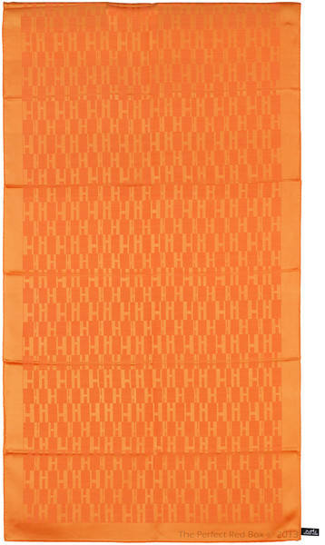 Grand H - Scarf Faconne - 75x180 cm - Orange - NWCT - Ref 1309231459