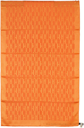 Grand H - Scarf Faconne - 75x180cm - Orange - NWCT - Ref 1309231643