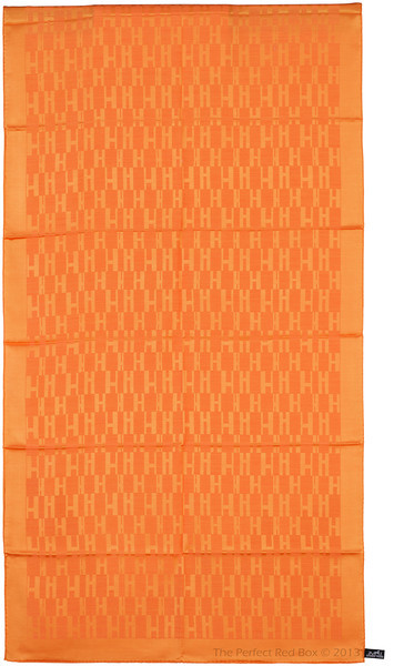 Grand H - Scarf Faconne - Orange - 75x180 cm - NWCT - Ref 1309231621