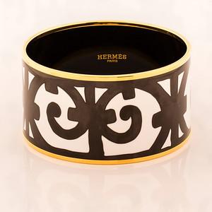Bracelet Balcons du Guadalquivir - Extra Wide PM - Black - Enamel Gold Plated - NWOCTS - 1306031544