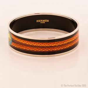 Bracelet Brandebourgs - Wide PM - Black - Enamel Silver Plated - NWOCTS - 1306031736