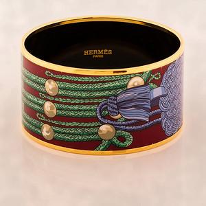 Bracelet Brandebourgs - Extra Wide PM - Maroon - Enamel Gold Plated - NWOCTS - 1306031514