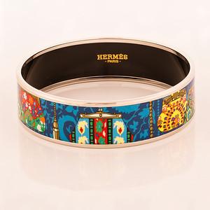 Bracelet Cachemire de Tamara - Wide PM - Blue - Enamel Silver Plated - NWOCTS - 1306040024