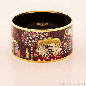 Bracelet Cachemire de Tamara - Extra Wide PM - Red - Enamel Gold Plated - NWOCTS - 1306031634
