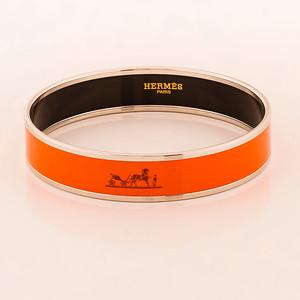 Bracelet Caleche - Medium GM - Orange - Enamel Gold Plated - NWOCTS - 1306031819
