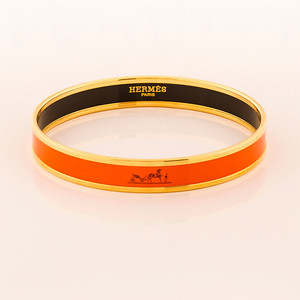 Bracelet Caleche - Narrow GM - Orange - Enamel Gold Plated - NWOCTS - 1306031752