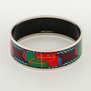 Bracelet Quadrige - Wide PM - Maroon - Enamel Silver Plated - NWOCTS - 1306171726