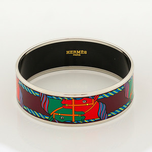 Bracelet Quadrige - Wide PM - Maroon - Enamel Silver Plated - NWOCTS - 1306121710