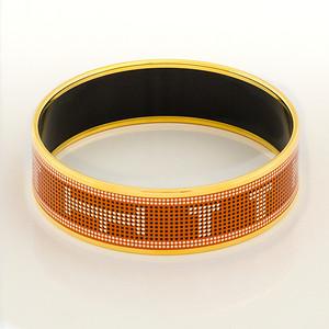 Bracelet Recherche H - Wide GM - Potiron - Enamel Gold Plated - NWOCTS - 1306171747