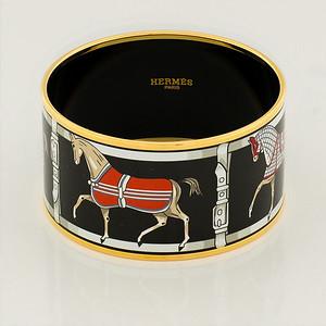 Bracelet Tenues et Couvertures 2 - Extra Wide PM - Black - Enamel Gold Plated - NWOCTS - 1306180016