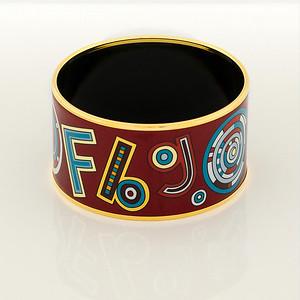 Bracelet Tohu Bohu - Extra Wide PM - Chataigne - Enamel Gold Plated - NWOCTS - 1306121635