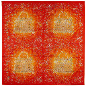 Magique Kelly x4 - Red Orange - Carre Summer Silk 140 - NWCTS - Ref 1307171536