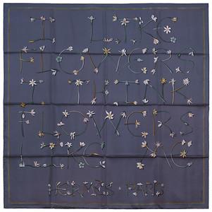 I like Flowers - Slate grey Green Peach - NWCTS - 1403122350