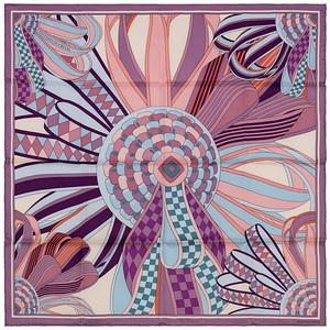 Flots du Cheval - 70cm - Lavender Eggplant Blue Pink - NWCT - 1602121423