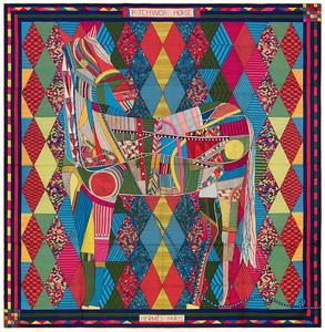 Patchwork Horse - CS140 - Green Yellow Pink - NWOCT - 1603011609