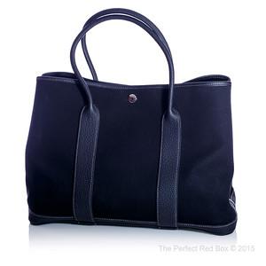 Garden Party 36 - Black Canvas - Black Negonda Leather - PHW - New - 1506021648