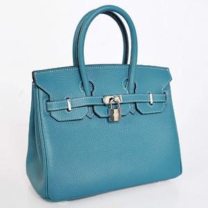 Birkins 25 blue silver hardware 25 x 20 x 13 cm