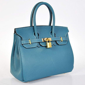 Birkins 25 blue Gold hardware 25 x 20 x 13 cm